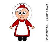 christmas mrs. claus cartoon... | Shutterstock .eps vector #1188465625