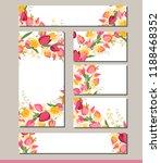 summer greeting card. tulips... | Shutterstock .eps vector #1188468352
