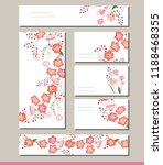 floral spring templates with... | Shutterstock .eps vector #1188468355