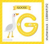 letter g uppercase cute... | Shutterstock .eps vector #1188469192