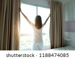 morning of a new day  wake up... | Shutterstock . vector #1188474085