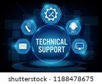 technical support customer... | Shutterstock .eps vector #1188478675