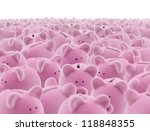 large group of pink piggy banks | Shutterstock . vector #118848355