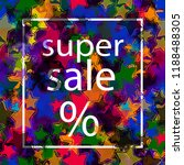 sale banner  poster with... | Shutterstock .eps vector #1188488305