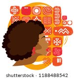 beautiful african american... | Shutterstock .eps vector #1188488542