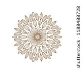 round floral mandala. vector... | Shutterstock .eps vector #1188488728