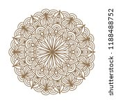 round graphic mandala. vector... | Shutterstock .eps vector #1188488752