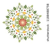 round floral mandala. vector... | Shutterstock .eps vector #1188488758