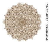 round graphic mandala. vector... | Shutterstock .eps vector #1188488782