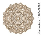 round graphic mandala. vector... | Shutterstock .eps vector #1188488785