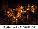 cemetery decoration in a day of ... | Shutterstock . vector #1188489118