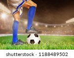 soccer player in action with... | Shutterstock . vector #1188489502