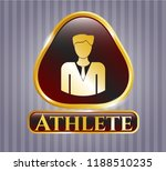 gold badge with businessman...   Shutterstock .eps vector #1188510235