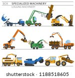 special industrial logging... | Shutterstock .eps vector #1188518605