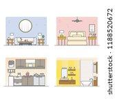indoor and interior design with ... | Shutterstock .eps vector #1188520672