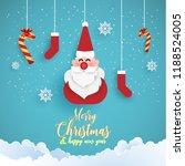 merry christmas. funny santa... | Shutterstock .eps vector #1188524005