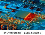 electronic circuit board close... | Shutterstock . vector #1188525058