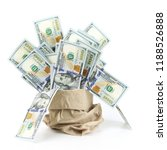 heap of one hundred dollars in... | Shutterstock . vector #1188526888