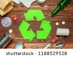 eco concept with recycling... | Shutterstock . vector #1188529528