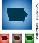 map of iowa   Shutterstock .eps vector #1188530692
