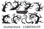 spooky trees silhouette... | Shutterstock .eps vector #1188536155