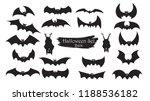 spooky bats silhouette... | Shutterstock .eps vector #1188536182
