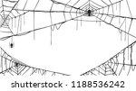 spooky spider web silhouette...   Shutterstock .eps vector #1188536242