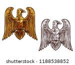 heraldic eagle golden statue... | Shutterstock .eps vector #1188538852