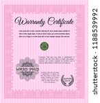 pink retro warranty template.... | Shutterstock .eps vector #1188539992