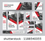 set of web banners of different ... | Shutterstock .eps vector #1188540355