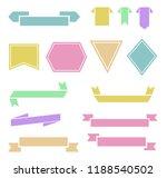 ribbon banner set. vintage... | Shutterstock .eps vector #1188540502
