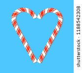 two red striped candy cane laid ... | Shutterstock .eps vector #1188542308