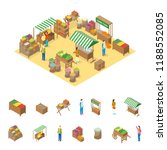 farm local market concept and... | Shutterstock .eps vector #1188552085
