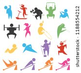 silhouette people icons. this... | Shutterstock .eps vector #1188554212
