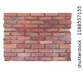 watercolor brick wall. hand... | Shutterstock . vector #1188557155