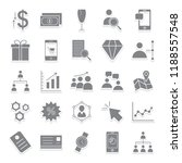 trade isolated vector icons... | Shutterstock .eps vector #1188557548