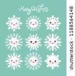 merry christmas card design... | Shutterstock .eps vector #1188564148