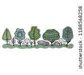 beautiful pattern trees. vector ... | Shutterstock .eps vector #1188568258