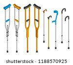 injury crutches icon set.... | Shutterstock .eps vector #1188570925