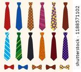 necktie icon set. flat set of...