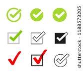 tick icons vector symbol set ... | Shutterstock .eps vector #1188573205