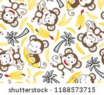 seamless pattern vector with... | Shutterstock .eps vector #1188573715