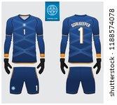 goalkeeper jersey or soccer kit ... | Shutterstock .eps vector #1188574078