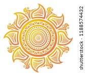 sun. vector illustration | Shutterstock .eps vector #1188574432