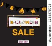 happy halloween sale banner... | Shutterstock .eps vector #1188575728