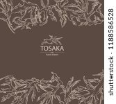 background with tosaka ... | Shutterstock .eps vector #1188586528