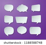 speech bubble cut paper design... | Shutterstock .eps vector #1188588748