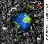 eco concept. the planet is... | Shutterstock . vector #1188589435