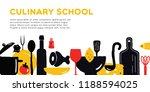 culinary school banner.... | Shutterstock .eps vector #1188594025