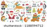 christmas and new year set on a ... | Shutterstock .eps vector #1188594712